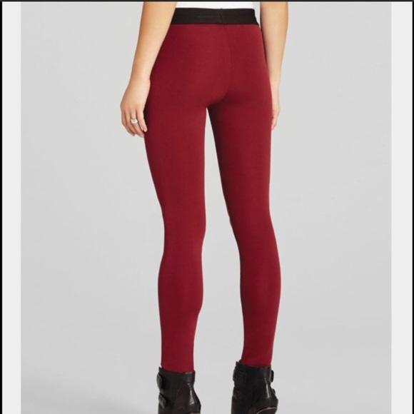 589c1104e7feb BCBG Pants | Maxazria Xs Mason Ponte Legging Merlot Red | Poshmark